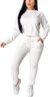 Women's 2 Piece Outfits - Stripe Patchwork Sweatsuits Long Sleeve Pullover Sweatshirt Skinny Long Pants Tracksuit Set