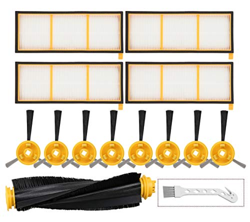 Mochenli Replacement Accessories Kit for Shark ION Robot RV700 RV720 RV750 RV750C RV755 Robotic Vacuum Cleaner,4 Filters,8 Side Brushes,1 Main Brush.(Not Fit RV700_N, RV720_N, RV750_N) Attachments Dining Features Kitchen