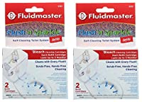 Fluidmaster 8302P8 Flush 'n Sparkle 自動便器洗浄システム 詰め替え ブリーチ 2個パック
