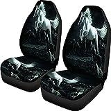 Cool Horse Prints Accesorios para el automóvil Funda protectora para el asiento delantero del automóvil Funda universal para asiento de automóvil Suv 2pcs Set Funda de cojín 47.5 * 75.5 * 49.5cm 1