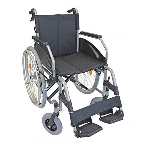 Lexis Rollstuhl mit Trommelbremse und Steckachsensystem/Reiserollstuhl/Transportrollstuhl/Faltrollstuhl/PU-Bereifung (48 cm) (48 cm)
