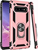 Galaxy S10+ Plus Case,(NOT for Small S10)(NOT for Small S10) ZADORN 15ft Drop Tested,Military Grade Heavy Duty Protective Cover Kickstand Phone Case for Samsung Galaxy S10 Plus 6.2' Brass