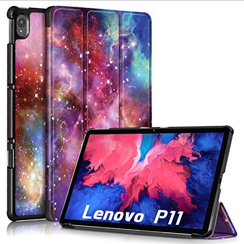 TOPCASE Ultra Delgada Funda para Lenovo Tab P11 TB-J606F 11 Pulgadas 2020 con Soporte Función Auto-Sueño/Estela,Galaxia