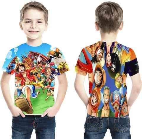 Camiseta Anime One Piece - Estampa Total Infantil