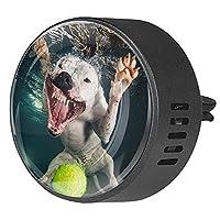 エッセンシャル オイル ベント クリップ用カー ディフューザー、水中犬テニス ,2 パック 40mm アロマセラピー芳香剤