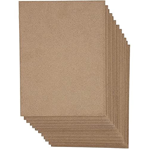 Blank Wooden Chipboard Sheets for Crafts and Signs (9x12 Inches, 12 Pack)