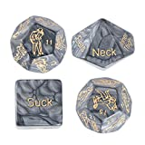 EXCEART Sex Dice Games Bedroom Romantic Sex Positions Role Playing Dice for Couples Adult Humour Dice Toys Games 4pcs Style 1