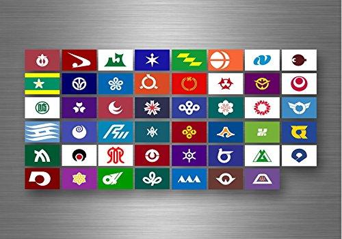 Akacha - Adesivo con bandiera dello Stato federale, motivo: bandiera del Giappone