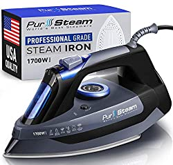 top rated Professional 1700W steam iron for quick and scratch resistant garments made of stainless steel … 2021