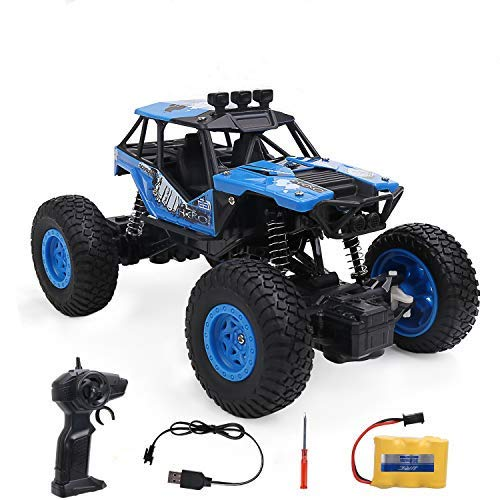 RC Car 1:20 Large Scale, 2.4Ghz Remote Control Truck All Terrain 4WD Off-Road Climbing Vehicle Electric Rock Crawler Buggy Hobby Toy Gift for Kids Boys and Adults