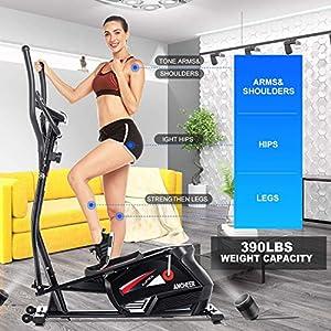 ANCHEER Desk Elliptical,Under Desk Exercise Bike Pedal Exerciser,Portable Fitness Pedal,Stationary Bike Peda,Mini Seated Desk Cycle Resistance for Seniors,Electric Trainer