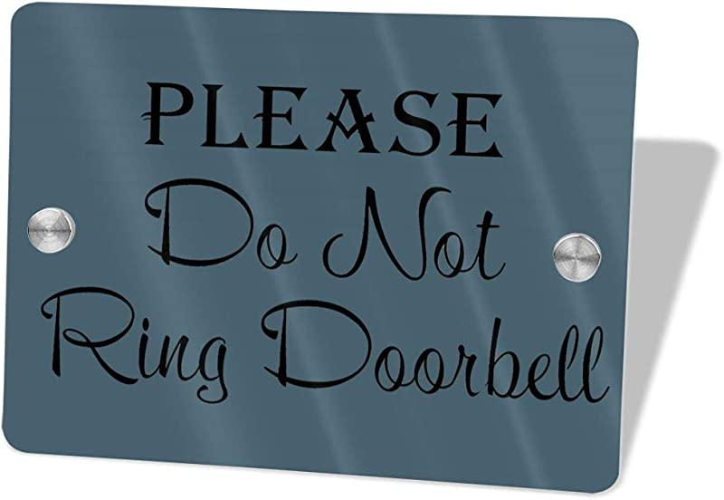 2vf78wew11 Please Do Not Ring The DoorbellCustom Door Sign 5 5 X 7 5 Door Suite Wall Sign Name Plate For Wall Front Door Decor Indoor Outdoor