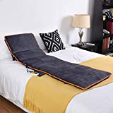 Taylor & Brown Plush Foldable Full Body Heated Massage Mat Mattress 8 Vibrating Motors Therapy Muscle Relief...