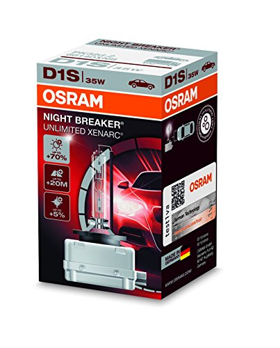 Ampoule Xénon OSRAM XENARC NIGHT BREAKER UNLIMITED D1S HID Lampe à décharge, 66140XNB, boîte pliante (1 pièce)