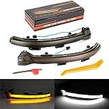 SYWAN Dynamique LED fumée Clignotant Indicateur de Miroir pour Golf 7 GTI 15+ Jetta MK5 / 7