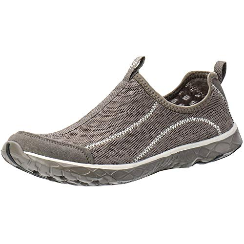 ALEADER Men's Mesh Slip On Water Shoes White/Gray 11 D(M) US