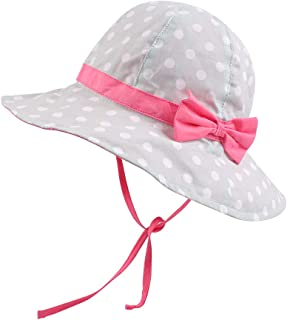 JANGANNSA Baby Girl Sun Protection Hat Summer Beach Cap for Infant Toddler Girls Outdoor Wide Brim Bucket Hats