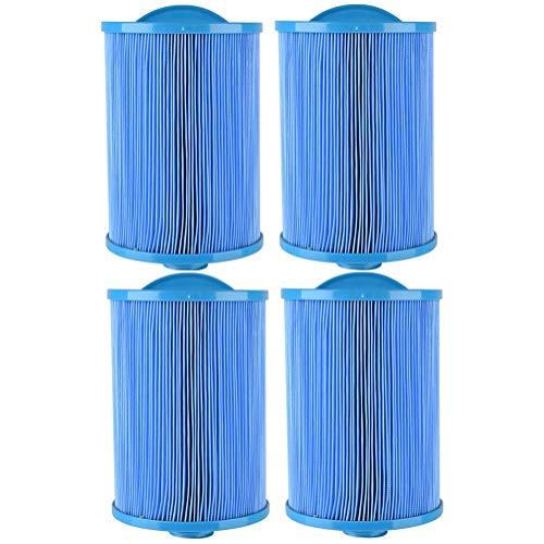 HLL Cartouches filtrantes pour Spa de Piscine Remplacement FC-356 Bleu antibactérien pour la Piscine Thermale pour Enfants (4Pack)