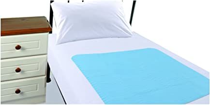 Highliving ® Washable Waterproof Incontinence Bed Protection Sheets With Tucks (Baby Blue)