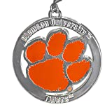 Fan Frenzy Gifts NCAA Clemson Tigers Silver 2' Ornament