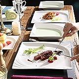 MALACASA, Serie Monica, Tafelservice 30-tlg Kombiservice Porzellan Geschirrset mit je 6 Kaffeetassen, 6 Unterteller, 6 Dessertteller, 6 Tiefteller und 6 Flachteller - 6
