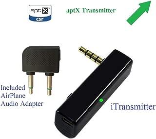 KOKKIA AirConnect_aptX:Airplane in-Flight Bluetooth Transmitter with aptX,让您从座椅上自由享受飞机的音频,室内、行道或倒车中享受。与 AirPods 兼容。