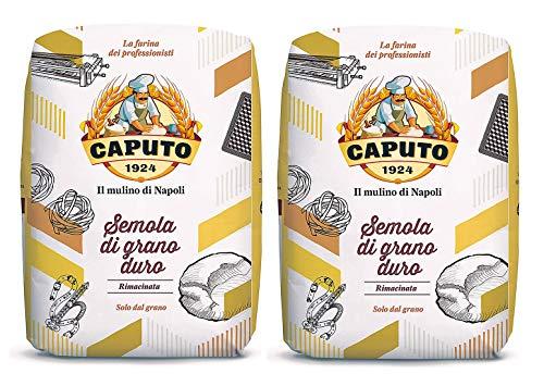 Caputo Semola Di Grano Duro Rimacinata Semolina Flour 1 kg Bag, 2 Pack