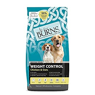 Burns Pet Nutrition Hypoallergenic Complete Dry Dog Food Adult and Senior Dog Weight Control Chicken and Oats 12 kg 2