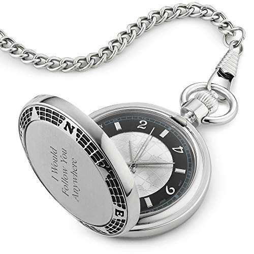 Things Remembered Personalized World Compass Pocket Watch with Engraving Included