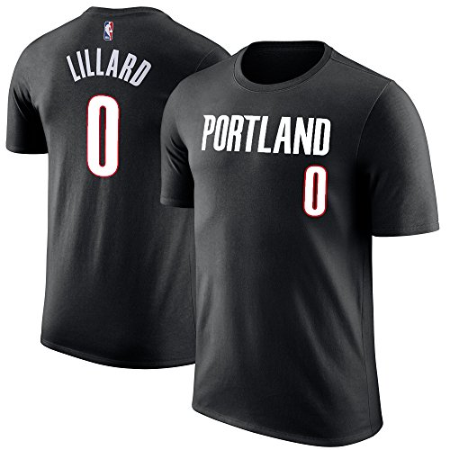NBA Youth Performance Game Time Team Color Player Name and Number Jersey T-Shirt (Small 8, Damian Lillard)