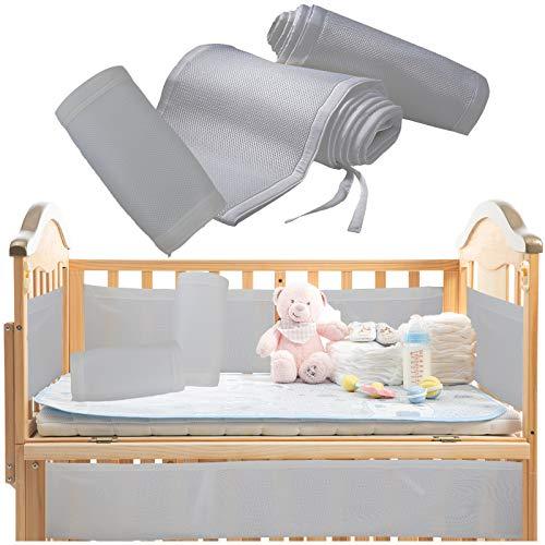 Breathable Crib Bumper Grey