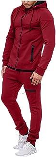 MIS1950s Casual Sports Suit Men's Full-Zip Sweatshirt Top Pants Sets Tracksuit