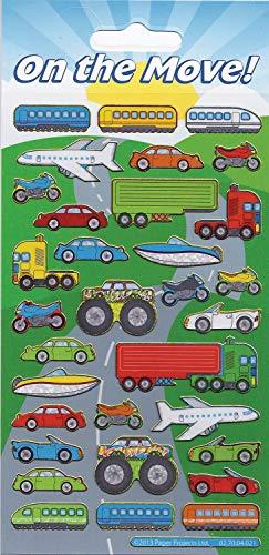 Paper Projects 01.70.04.021 On the Move Autocollants réutilisables Multicolore 19,5 x 9,5 cm