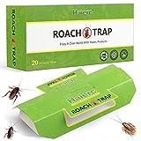 20 pack Trampas para Cucarachas, trampas de cucaracha para la familia, trampas pegajosas para protegerte de cucarachas (Green)