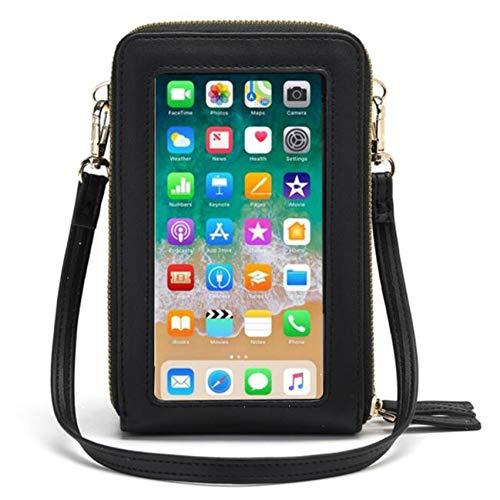 LPOQW Bolso bandolera para mujer con pantalla táctil para teléfono móvil, bolsa...