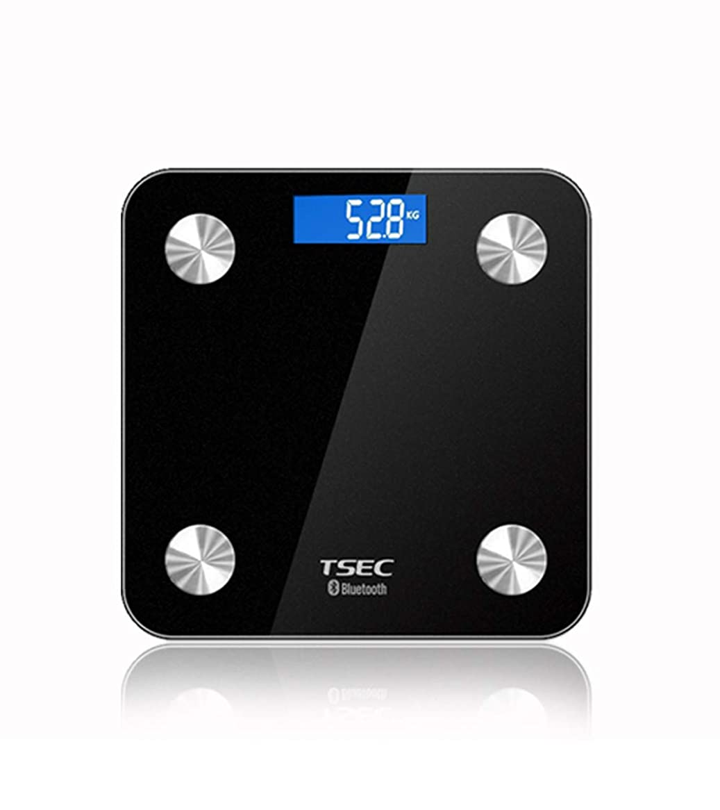 キネマティクスギャップ頂点スマートなBluetoothの共用体脂肪のスケール、多機能の脂肪スケールの家の電子スケール,Black