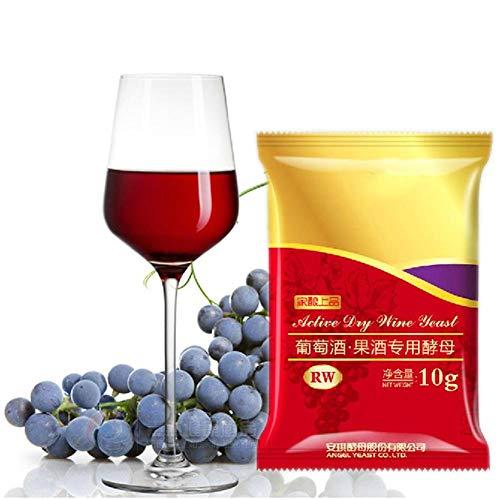 Droge wijngist 10 g voor 50 kg, rode wijn Druif Alcohol Actieve droge gist Perfecte partnerbenodigdheden Thuis DIY Brouwen Gisting Saccharomyces Cerevisiae Gist voor wijnbereiding