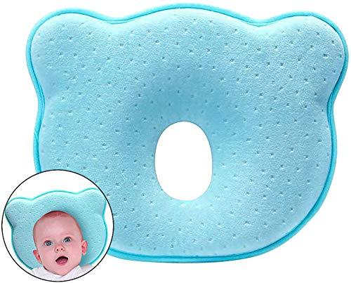 Vagalbox Almohada para Bebé,Prevenir la Plagiocefalia y Cabeza plana Almohada Ortopedica para Bebé,Almohada de Espuma de Memoria...