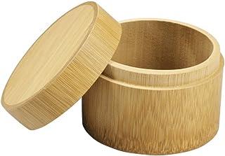 OUNONA 茶缶 茶入れ 茶筒 湿気や酸化を防止する 茶容器 竹製
