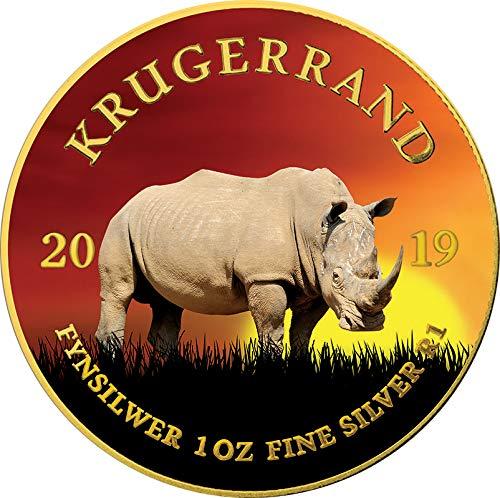 Power Coin Rhino Nashorn Krugerrand Big Five 1 Oz Silber Münze 1 Rand South Africa 2019