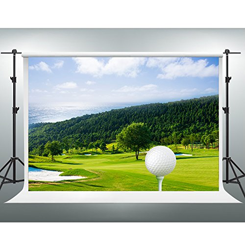 Natural Backdrop GESEN 7x5ft Green Forest Lawn Golf Course Photography Background for Pictures Photos Photo Studio Shooting Props KGE117