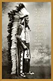E Chief White Cloud (Native American Wisdom) Art Poster Print 24 x 36in