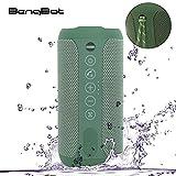 12W Wireless Bluetooth Lautsprecher mit Dual Treiber Bass (Unterstützt 3,5mm AUX-Eingang+Mikrofon) für Indoor/Outdoor, IPX6 Wasserdicht und Stoßfest, 12St Spielzeit, Bluetooth Speakers V4.2, Grün