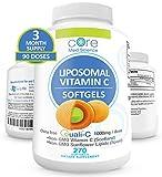 Core Med Liposomal Vitamin C Softgels 1000mg/dose - Quali®-C Vitamin C (Non-GMO) - USA Made - Immunity Support, Collagen Booster Supplement - Non-GMO Non-Soy … (3 Month)