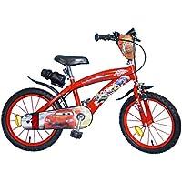 TOIMS Cars - Bicicleta Infantil para niño, Niño, Cars, Rojo