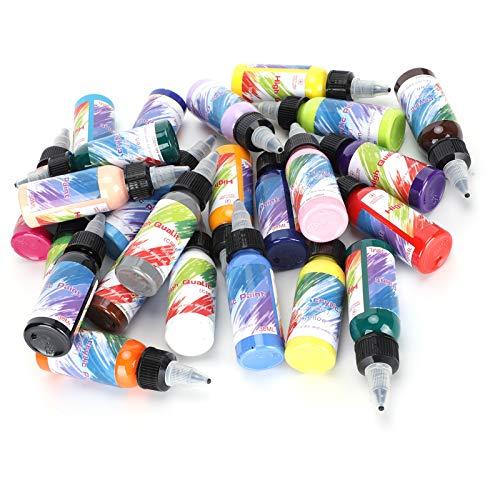 Kadimendium Pigmento per Pittura Impermeabile, Pigmento per Pittura a Mano ad Asciugatura Rapida, Set di Colori acrilici, Articoli per disegnare Bambini Principianti per Graffiti per Pittura acrilica