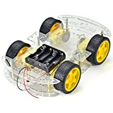 Crazepony-UK 4-Wheel Robot Smart Car Chassis Kits Car Model with Speed Encoder for Arduino