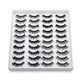 20 Pairs/set Beauty Eye Makeup Tools Handmade Mixed Styles Wispies Fluffies 3D Faux Mink Thick Long False Eyelashes(405)