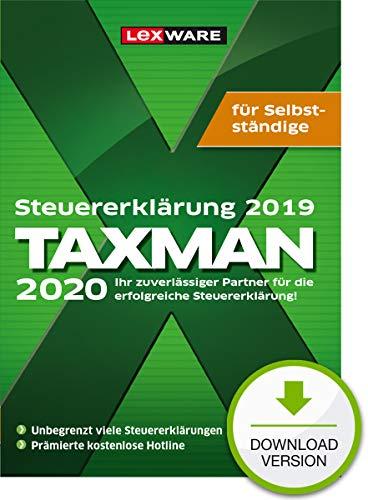 Lexware Taxman 2020 Download für das Steuerjahr 2019|Übersichtliche Steuererklärungs-Software für Selbstständige, Gründer und Unternehmer