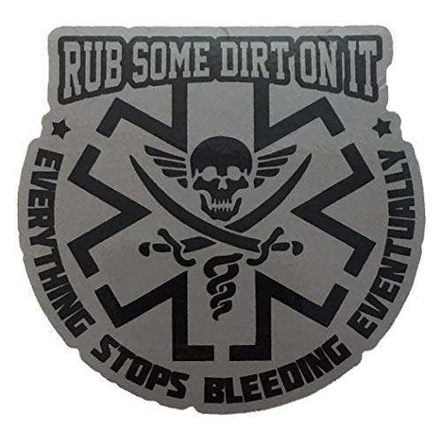 F-Bomb Morale Gear Rub Some Dirt On It - Bumper Sticker Decal (Gray)